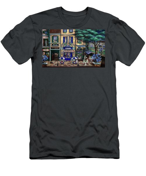 Italian Cafe Men's T-Shirt (Slim Fit) by Curtiss Shaffer
