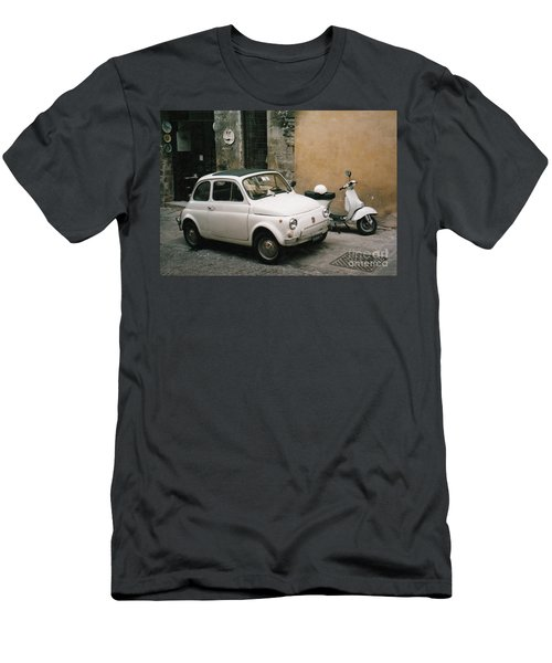 Men's T-Shirt (Athletic Fit) featuring the photograph Italian Classic Commute  by Frank Stallone