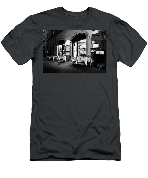 Italian Restaurant In Lucca, Italy Men's T-Shirt (Athletic Fit)