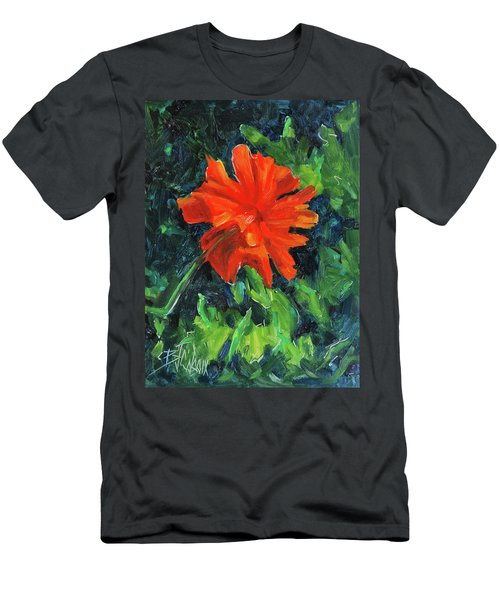 Men's T-Shirt (Slim Fit) featuring the painting I've Got My Red Dress On by Billie Colson