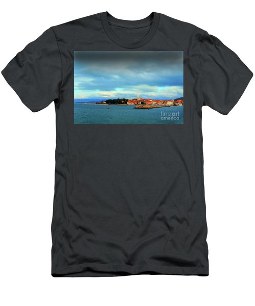 Men's T-Shirt (Slim Fit) featuring the photograph Izola From The Marina by Graham Hawcroft pixsellpix