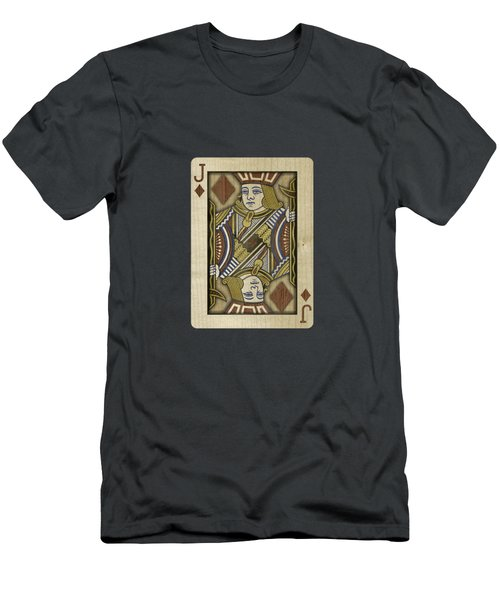 Jack Of Diamonds In Wood Men's T-Shirt (Athletic Fit)