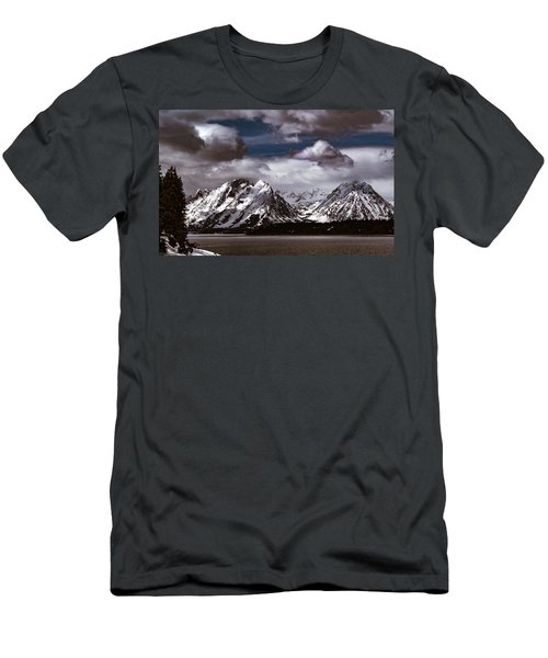Jackson Lake Peaks Men's T-Shirt (Athletic Fit)
