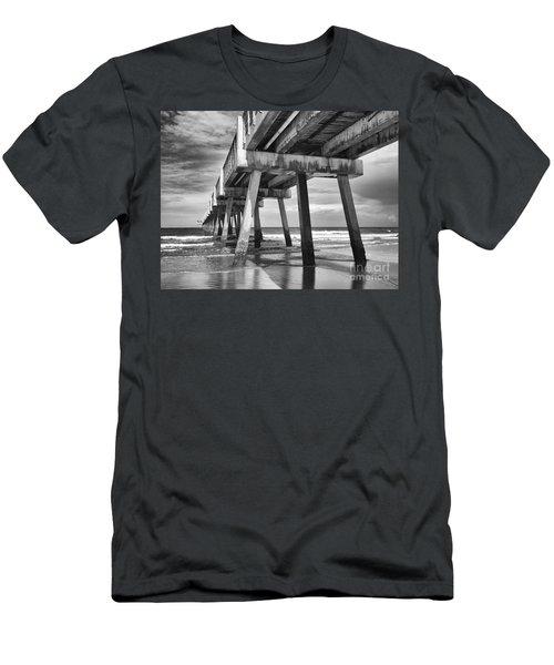 Jacksonville Beach Florida Usa Pier Men's T-Shirt (Slim Fit) by Vizual Studio