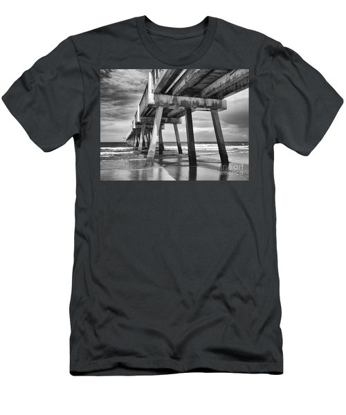 Jacksonville Beach Florida Usa Pier Men's T-Shirt (Athletic Fit)
