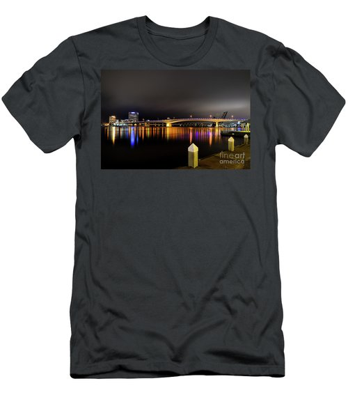Jacksonville Night Sky Men's T-Shirt (Athletic Fit)