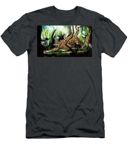 Jaguar And Boa Men's T-Shirt (Athletic Fit)