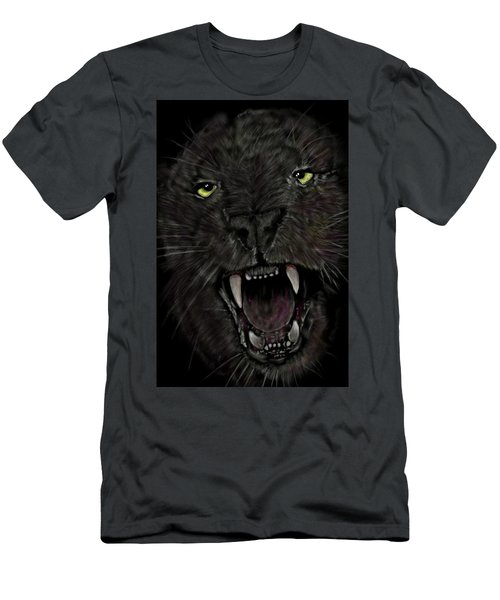 Men's T-Shirt (Athletic Fit) featuring the digital art Jaguar by Darren Cannell