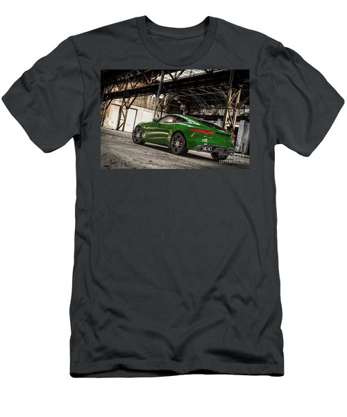 Jaguar F-type - British Racing Green - Rear View Men's T-Shirt (Athletic Fit)