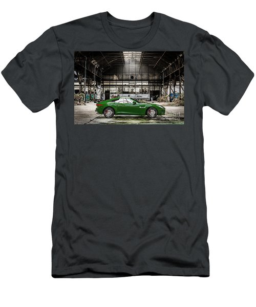 Jaguar F-type - British Racing Green - Side View Men's T-Shirt (Athletic Fit)