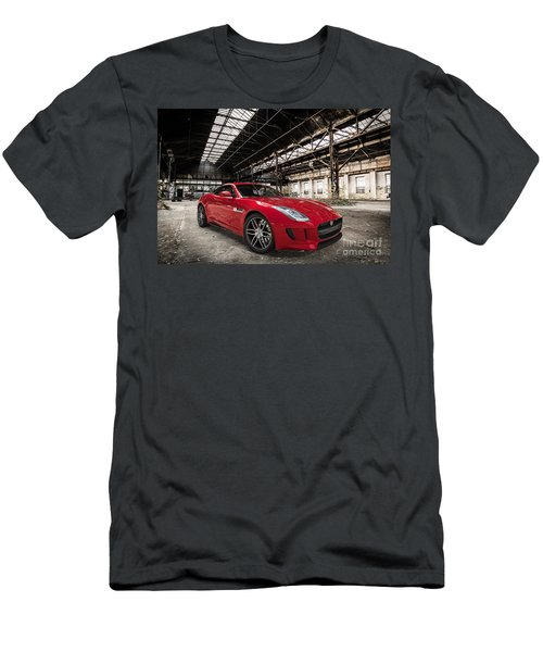 Jaguar F-type - Red - Front View Men's T-Shirt (Athletic Fit)