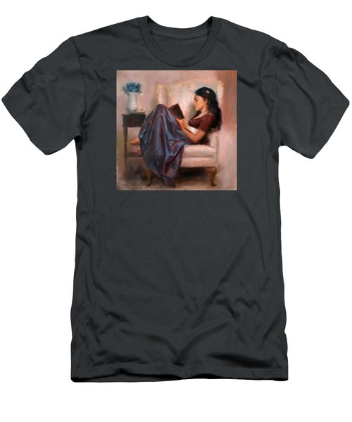 Jaidyn Reading A Book 2 - Portrait Of Woman Men's T-Shirt (Athletic Fit)