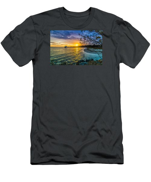 James Island Sunrise - Melton Peter Demetre Park Men's T-Shirt (Athletic Fit)