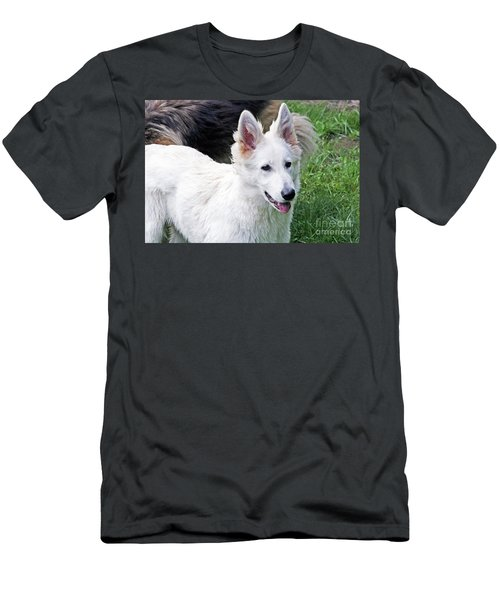 Janie As A Pup Men's T-Shirt (Athletic Fit)