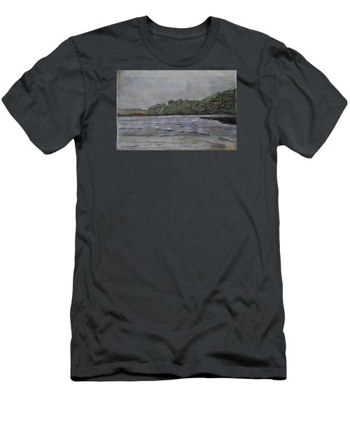 Men's T-Shirt (Slim Fit) featuring the painting Janjira Palace by Vikram Singh