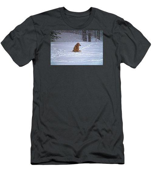 January Blizzard Men's T-Shirt (Slim Fit) by Elizabeth Dow