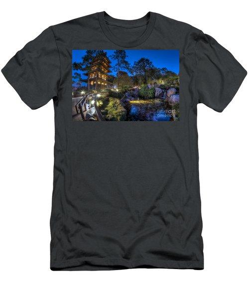 Japan Epcot Pavilion By Night. Men's T-Shirt (Athletic Fit)