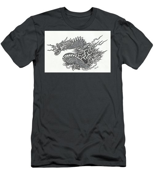 Japanese Dragon Men's T-Shirt (Athletic Fit)
