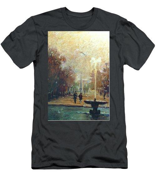 Jardin Des Tuileries Men's T-Shirt (Slim Fit) by Walter Casaravilla