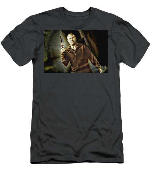 Jason Statham - Actor Painting Men's T-Shirt (Athletic Fit)