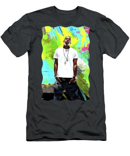 Jay Z - Celebrity Art Men's T-Shirt (Athletic Fit)
