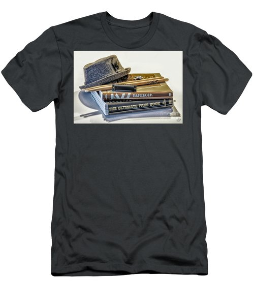 Men's T-Shirt (Slim Fit) featuring the photograph Jazz by Walt Foegelle