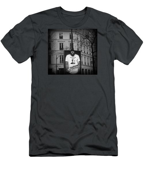 Men's T-Shirt (Slim Fit) featuring the photograph je descends de Darwin Exhibition by Katie Wing Vigil