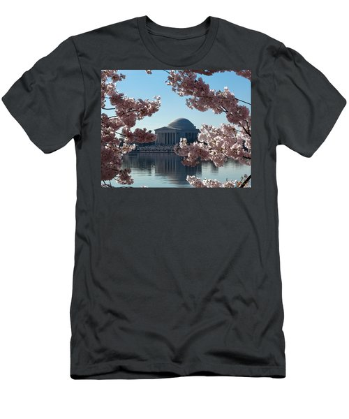 Jefferson Memorial At Cherry Blossom Time On The Tidal Basin Ds008 Men's T-Shirt (Athletic Fit)