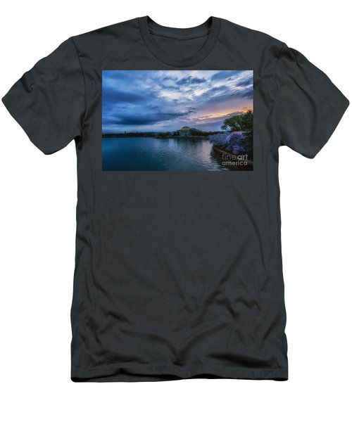 Jefferson Memorial Dawn Men's T-Shirt (Slim Fit) by Thomas R Fletcher