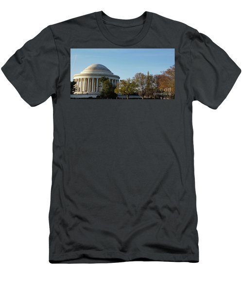 Jefferson Memorial Men's T-Shirt (Slim Fit) by Megan Cohen