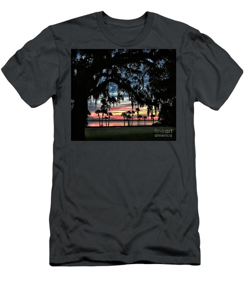Jekyll Island Georgia Sunset Men's T-Shirt (Slim Fit) by Walt Foegelle
