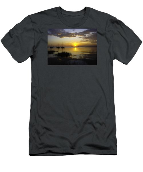 Jekyll Island Sunset Men's T-Shirt (Athletic Fit)