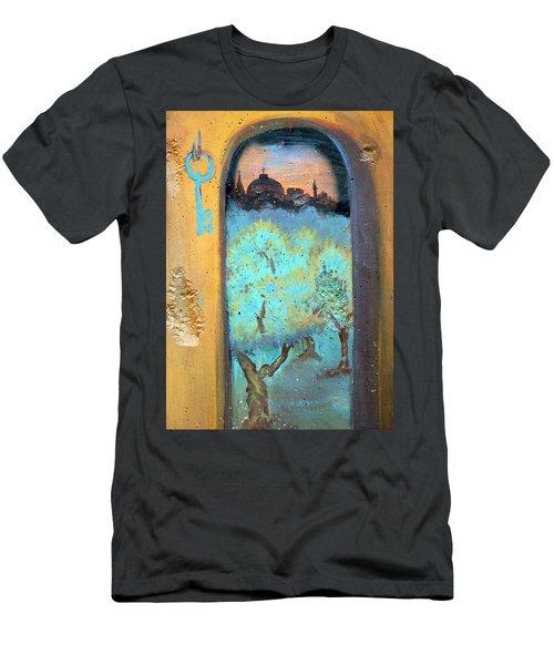 Jerusalem Key Men's T-Shirt (Athletic Fit)