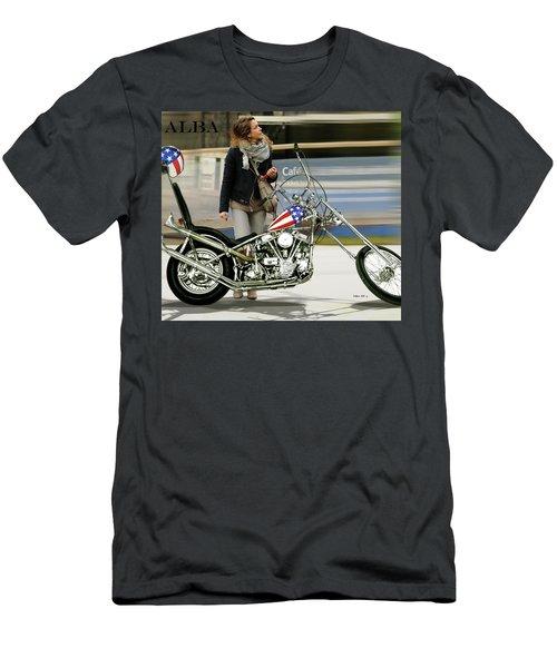 Jessica Alba, Captain America, Easy Rider Men's T-Shirt (Athletic Fit)