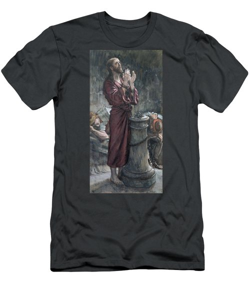 Jesus In Prison Men's T-Shirt (Athletic Fit)