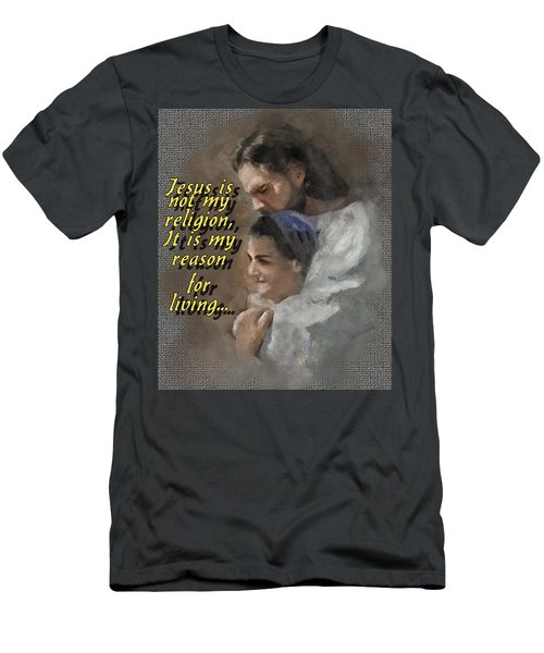 Jesus Is Not My Religion Men's T-Shirt (Athletic Fit)