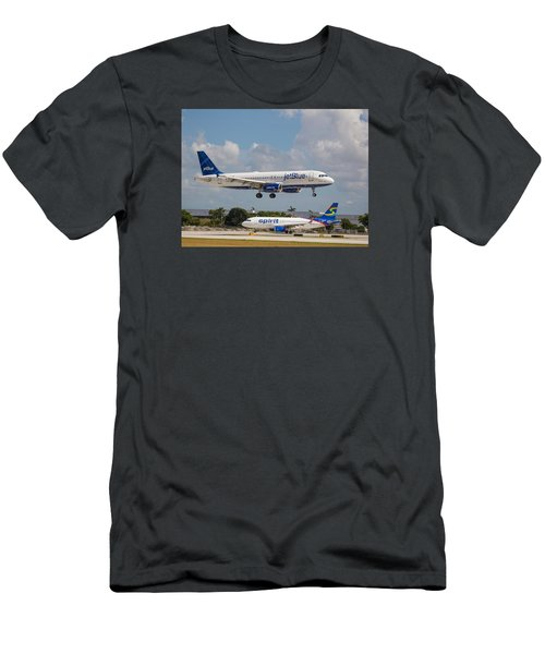 Jetblue Over Spirit Air Men's T-Shirt (Athletic Fit)