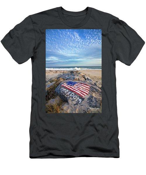 Jetty Four Beach Men's T-Shirt (Athletic Fit)