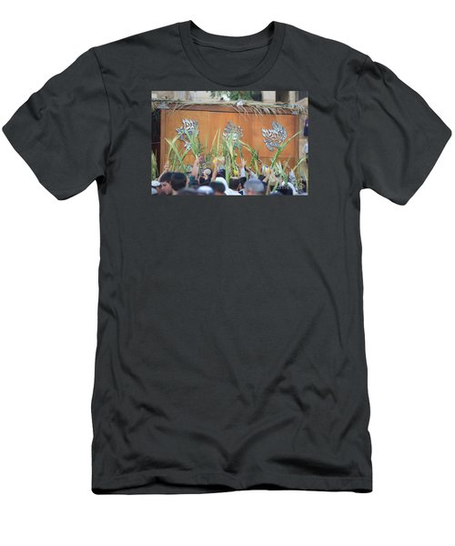 Jewish Sunrise Prayers At The Western Wall, Israel 4 Men's T-Shirt (Athletic Fit)