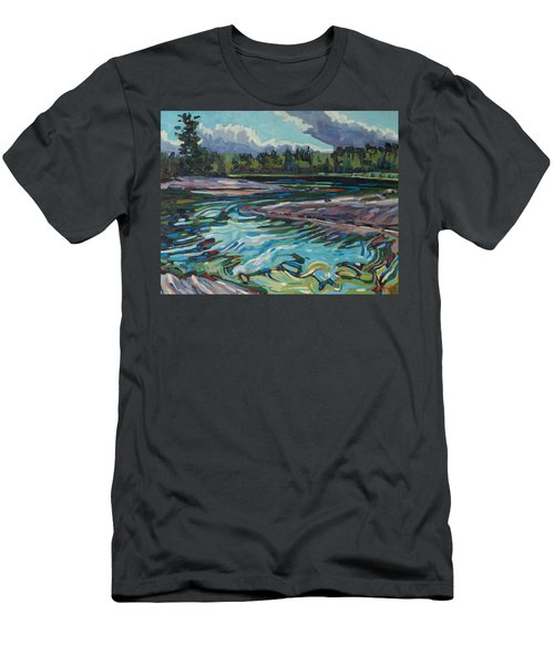 Jim Afternoon Rapids Men's T-Shirt (Athletic Fit)
