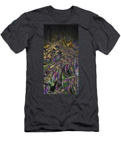 Men's T-Shirt (Slim Fit) featuring the digital art Jingle Pete Senior by Steve Sperry