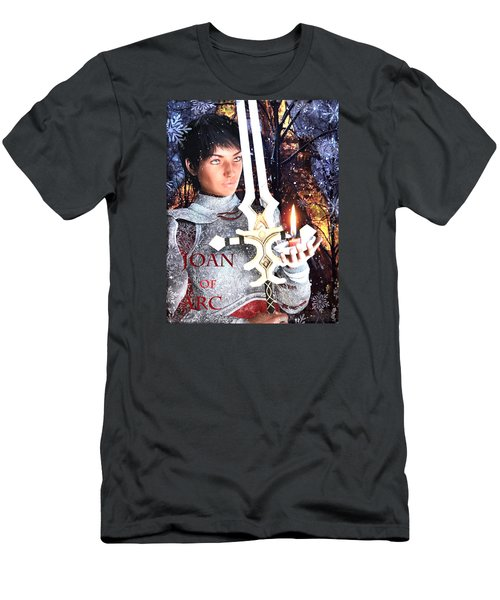 Men's T-Shirt (Slim Fit) featuring the painting Joan , Light Of France by Suzanne Silvir