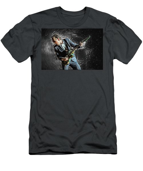Joe Bonamassa Men's T-Shirt (Slim Fit) by Taylan Apukovska