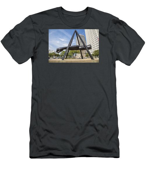Joe Louis Fist In Detroit In Color  Men's T-Shirt (Slim Fit) by John McGraw