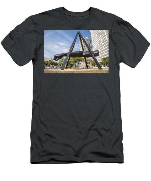 Joe Louis Fist In Detroit In Color  Men's T-Shirt (Athletic Fit)