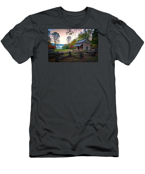 John Oliver Place In Cades Cove Men's T-Shirt (Slim Fit) by Rick Berk