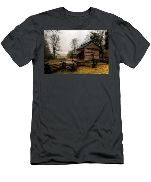 John Oliver's Cabin In Cades Cove Men's T-Shirt (Athletic Fit)