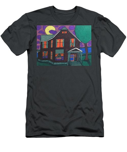 Men's T-Shirt (Slim Fit) featuring the painting John Wells Home. by Jonathon Hansen