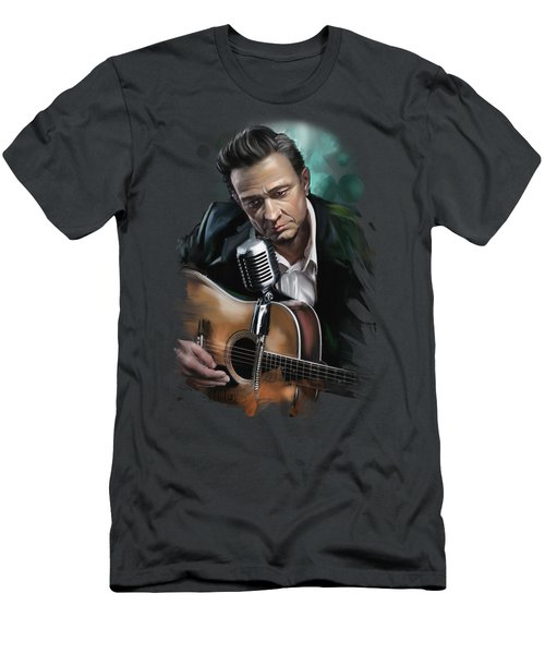 Johnny Cash Men's T-Shirt (Athletic Fit)