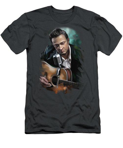 Johnny Cash Men's T-Shirt (Athletic Fit)